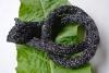 Schlangenhalsband schwarz silber
